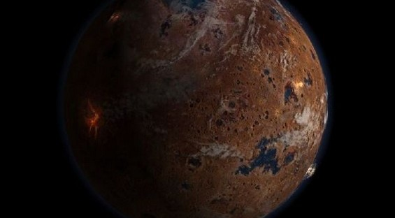 Моќни илустрации на црвената планета
