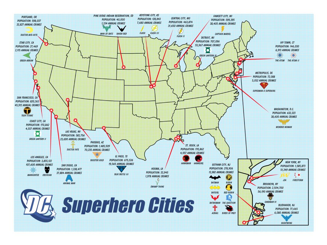 Каде живеат вашите омилени суперхерои?