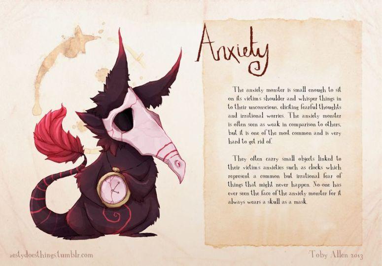 (1) Психолошките нарушување претставени како реални чудовишта