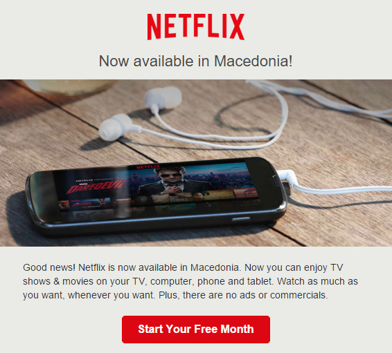 (1) Од денес Нетфликс е достапен и во Македонија!