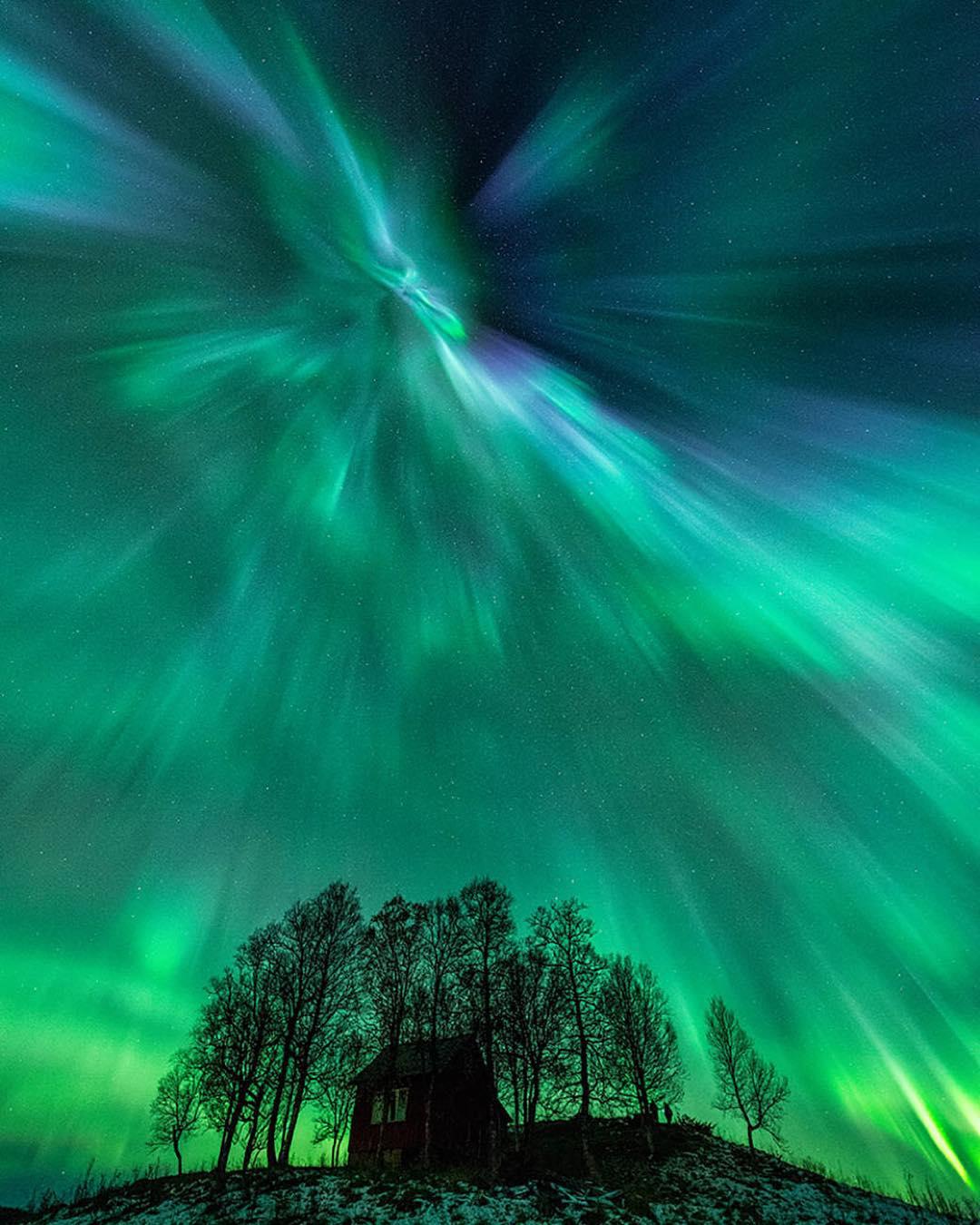 Аурора бореалис над Норвешка