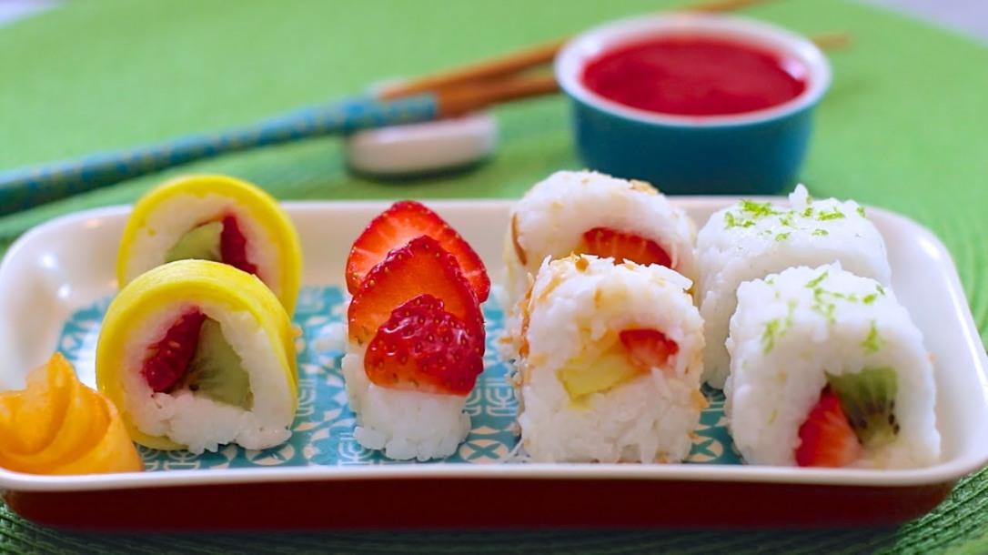 Безглутенско овошно суши