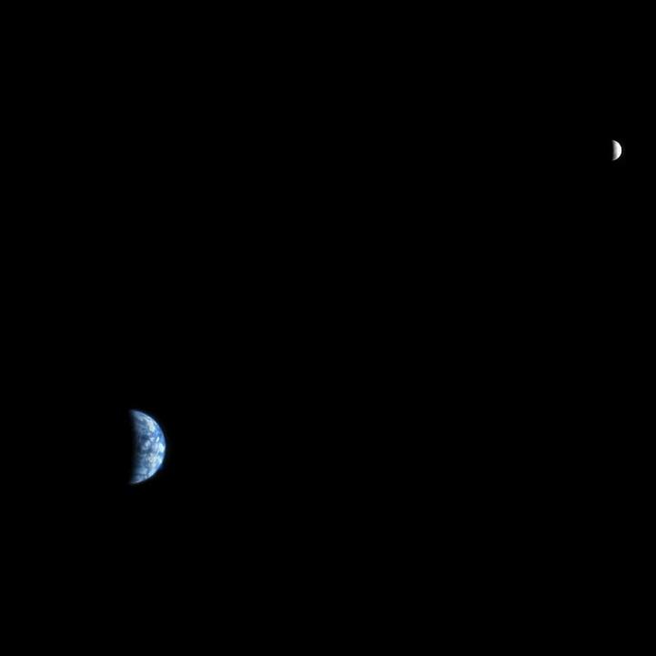 #АстроФотоНаДенот - Земјата и Месечината, фотографирани од Марс
