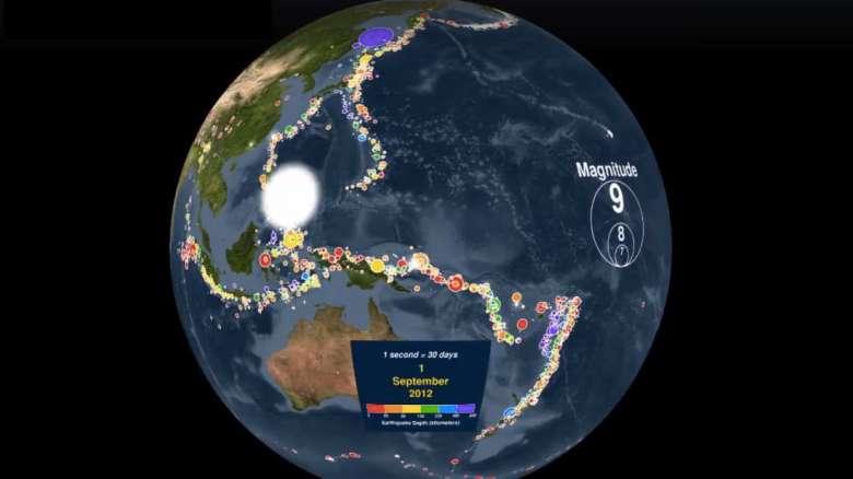 Погледнете ги сите земјотреси што ја потресле нашата планета во последниве 15 години